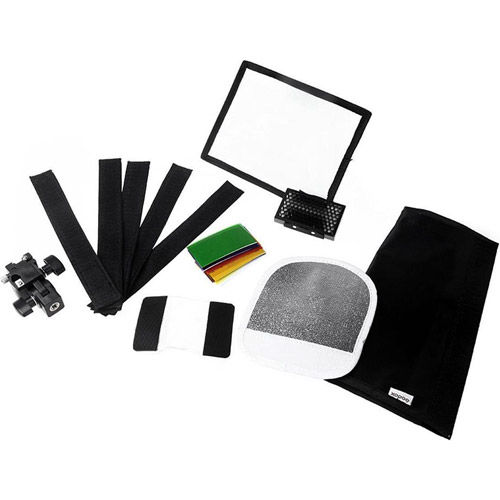 Speedlite Accessory Set with Softbox ,Color Filter, Honey Comb, Reflector, Speedlite Holder, S