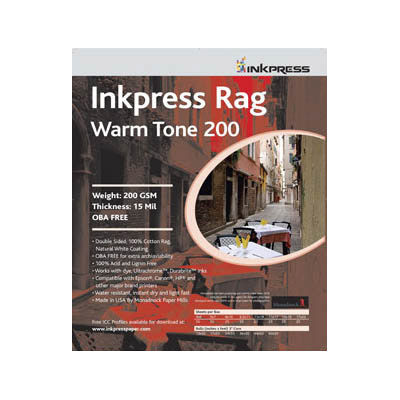 "4"" x 6"" Warm Tone Rag DUO 200gsm 24mil 50 Sheets"