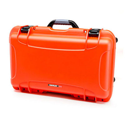 935 Case w/ Dividers, Retractable Handle and Wheels - Orange