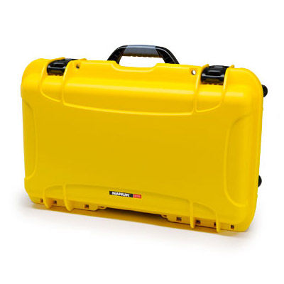 935 Case w/ Dividers, Retractable Handle and Wheels - Yellow