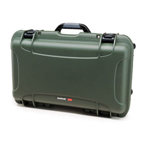 935 Case w/ Foam,  Retractable Handle and Wheels - Olive