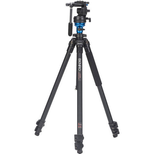Aluminum Video Tripod Kit - Single Legs with S2 Video Head and Bag A1573FS2