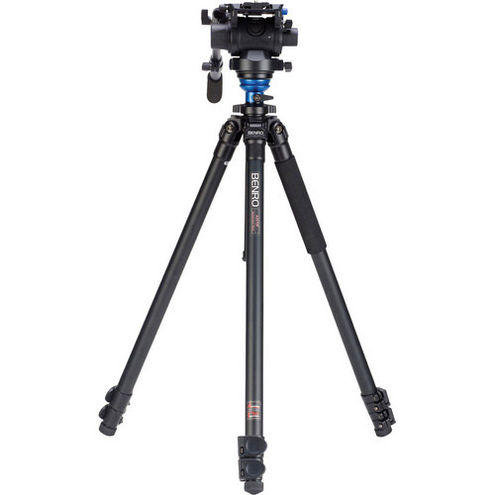 Aluminum Video Tripod Kit - Single Legs with S6 Video Head and Bag A2573FS6