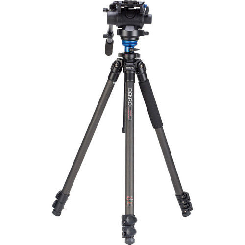 Carbon Fibre Video Tripod Kit - Single Legs with S6 Video Head and Bag C2573FS6