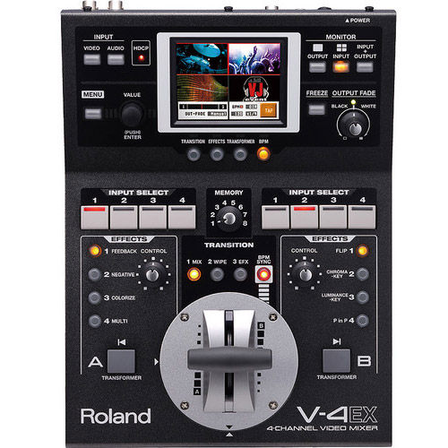 V-4EX 4-Channel Digital Video Mixer with Effects