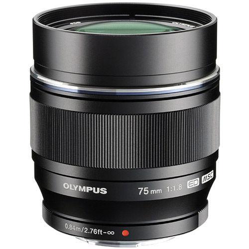M.Zuiko ED 75mm f/1.8 Black Lens