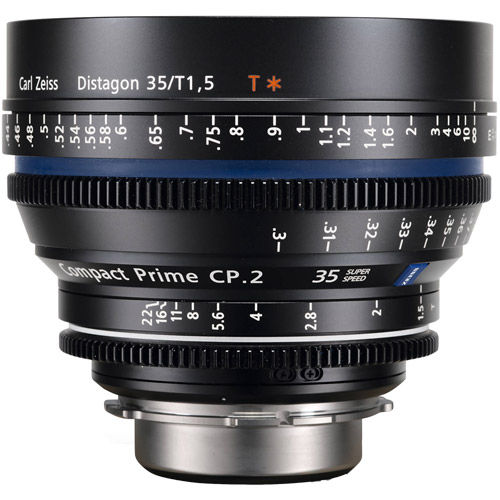 CP.2 T*35mm f/1.5 PL Super Speed Compact Prime CP.2 (feet) - 7pc+ Lens Kit