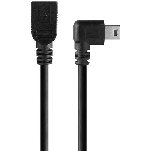TetherPro Mini B USB 2.0 Right Angle Cable Adapter BLK 12""