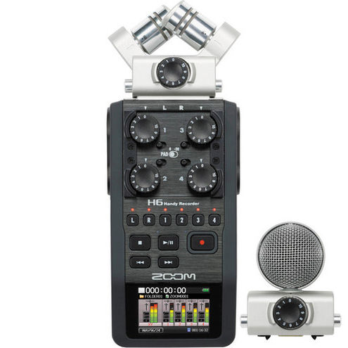 H6 Handy Recorder 24-Bit/96kHz 6-in/2-out Modular Recorder