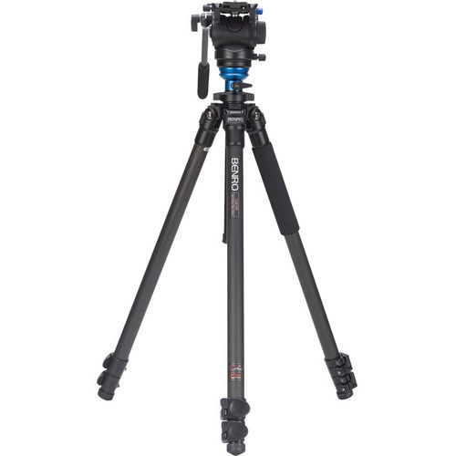 Carbon Fibre Video Tripod Kit - Single Legs wtih S4 Video Head and Bag C2573FS4