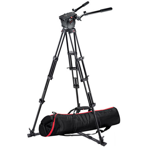 545GB Tripod with 526 Head and MBAG100PN BAG Ground Level Spreader