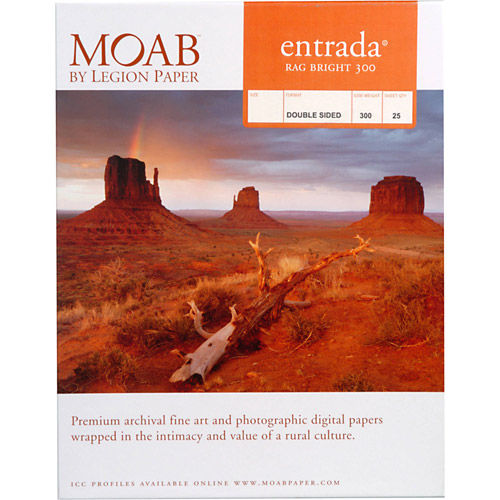 """5""""x7"""" Entrada 300gsm Bright 2 Sided Fine Art Paper - 25 Sheets"""
