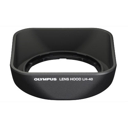 LH-40B Black Lens Hood for Micro 4/3 45mm f/1.8 Lens