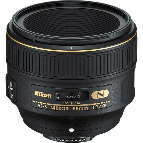 AF-S NIKKOR 58mm f/1.4 G Lens