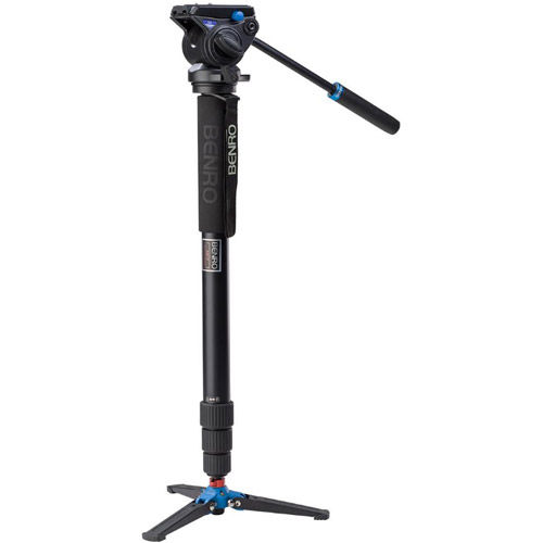 Aluminum Video Monopod Kit with S4 Video Head and Bag A48TDS4