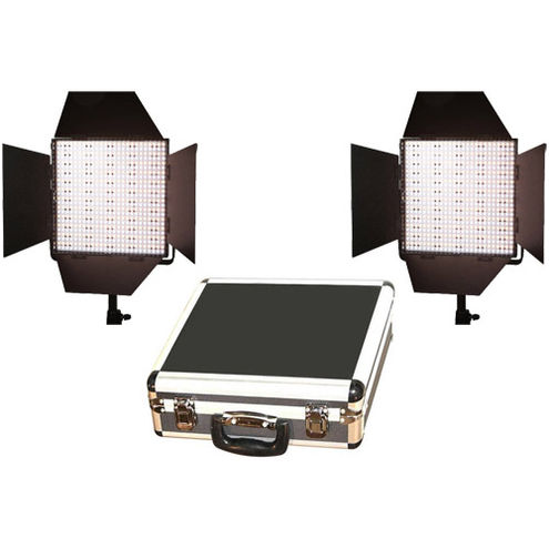 2 x LG-600CS LED Lights Bi-Colour with Hard Case