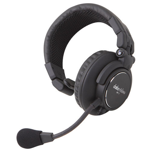 """Optional single-ear headset w/ mic for the ITC-100 belt packs and base station, one 1/8"""" connector"""