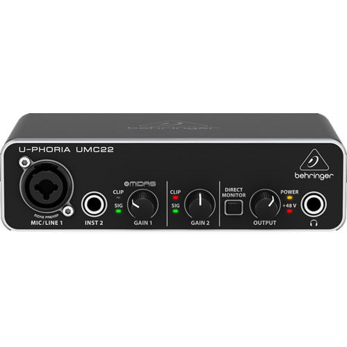 2x2 USB Audio Interface w/ MIDAS Mic Preamplifier