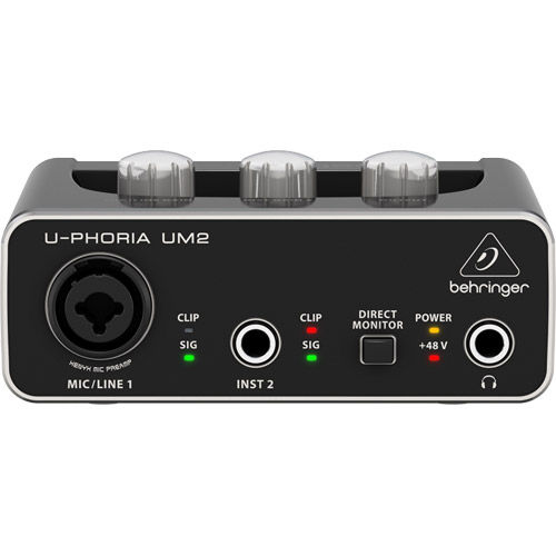2x2 USB Audio Interface with XENYX Mic Preamplifier
