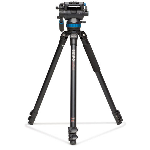 Aluminum Video Tripod Kit - Single Legs with S8 Video Head and Bag A373FS8