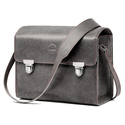 T System Case, Size S, Stone Grey Leather