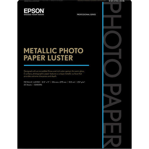 "8.5"" x 11"" Metallic Photo Paper Luster - 25 Sheets"
