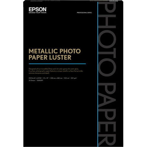 "13"" x 19"" Metallic Photo Paper Luster - 25 Sheets"