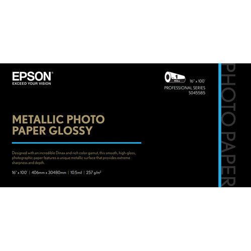 """16"""" x 100'  Metallic Photo Paper Glossy"""