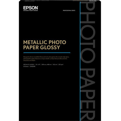 "13"" x 19"" Metallic Photo Paper Glossy - 25 Sheets"