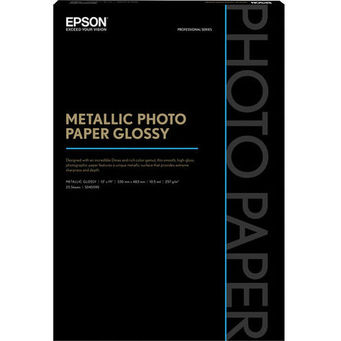 "13"" x 19"" Metallic Photo Paper Glossy - 25 Sheets"