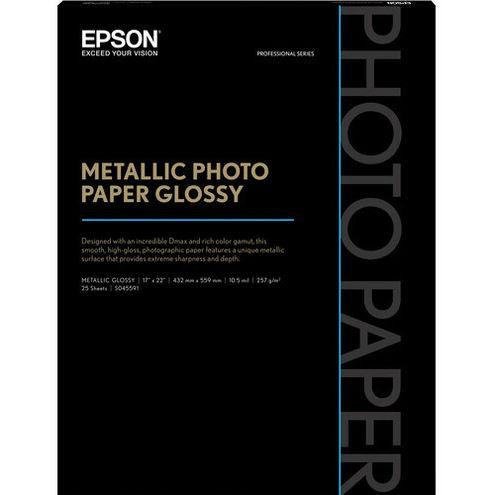"17"" x 22""  Metallic Photo Paper Glossy - 25 Sheets"