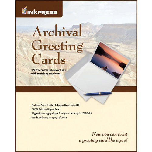 "7""x10"" / 5""x7"" Duo Matte 100 Archival Greeting / Scored Cards with Envelopes"