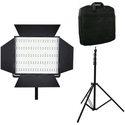 LG-900S LED Light 5600K with Mantis Light Stand and Case