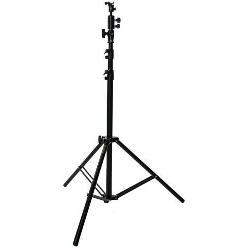 Small 2.3 m Air Cushion Light Stand Black with Ball Head Style Speedlight Umbrella Holder