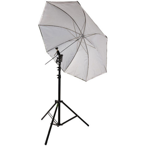 "45"" Umbrella Kit with Small Light Stand, Umbrella Holder and Cold Shoe with Clamp Lock"