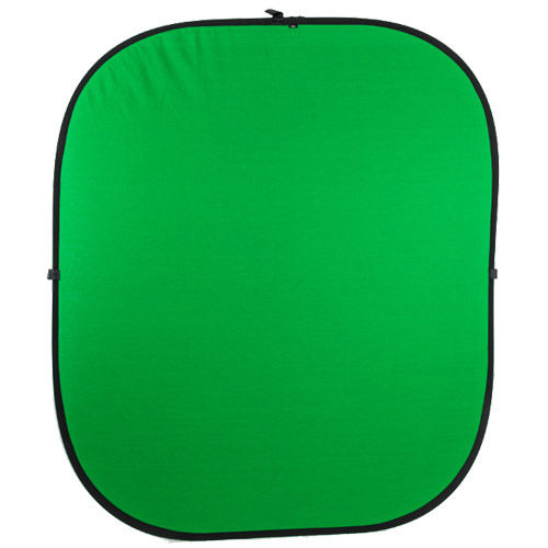 1.85 m x 2.1 m Green/Blue Collapsible Studio Background - Double Stitched