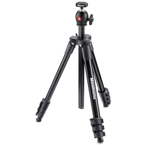 Compact Light Tripod Kit With Ball Head - Black