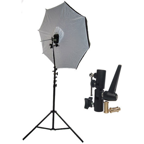 "40"" Brolly Box - Reflective Umbrella with 7 mm Shaft with Medium Light Stand and Umbrella Holder"