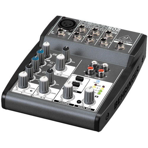 Premium 5-Input 2-Bus Mixer w/ XENYX Mic Preamps and British EQs