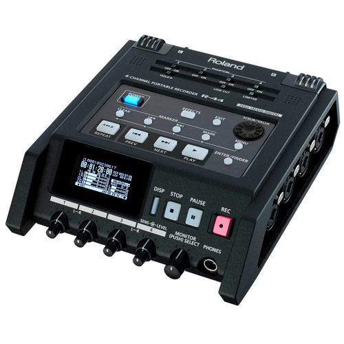 R-44 Solid-State Four-Channel Portable Field Recorder