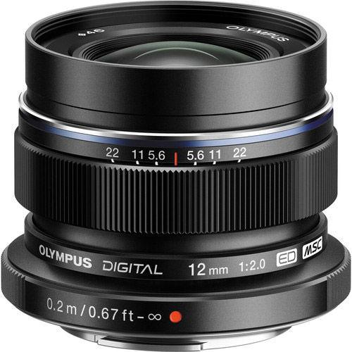 M.Zuiko ED 12mm f/2.0 Black Lens