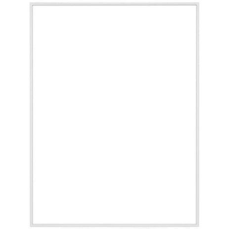 """9"""" x 12"""" Fineline White Aluminum Frame - No Matte"""