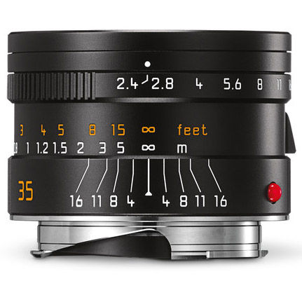 35mm f/2.4 ASPH Summarit-M Black Lens (E46)