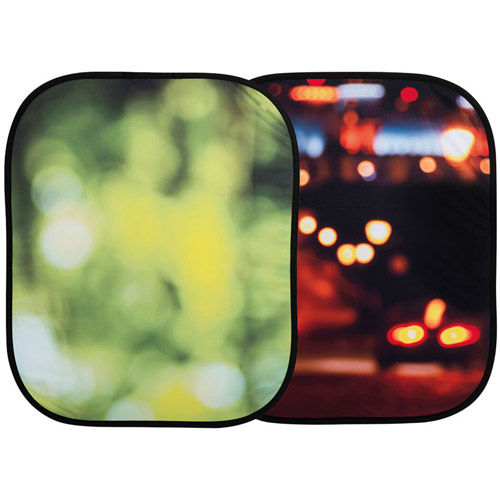 Out of Focus Collapsible 1.2 x 1.5m Summer Foliage/City Lights