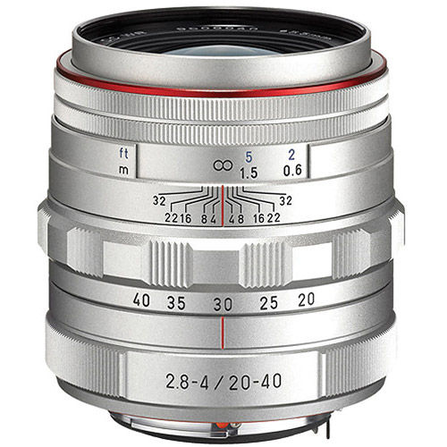 HD Pentax-DA 20-40mm f/2.8-4.0 ED DC WR Lens - Silver