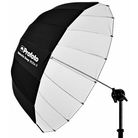 White Umbrella Deep Small (85cm)