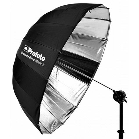Silver Umbrella Deep Small (85cm)