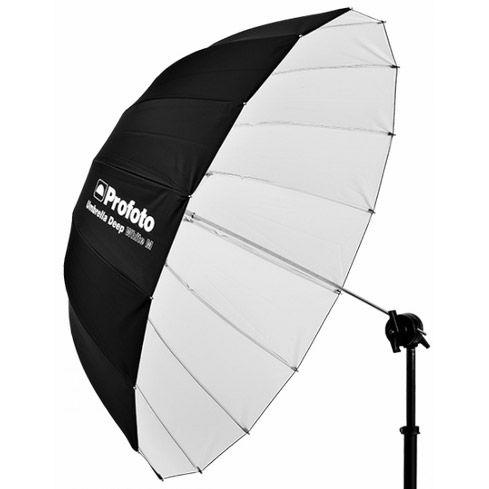 White Umbrella Deep Medium (105cm)