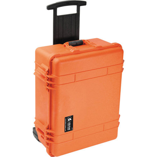1560 Case Orange  No Foam w/Retractable Handle & Wheels
