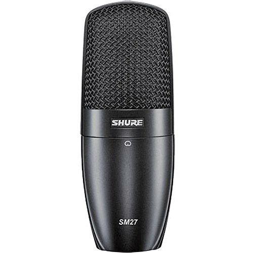 SM27-SC Condenser Microphone Incl. A27SM ShureLock Rubber Suspensiom Shockmount, Velveteen Pouch